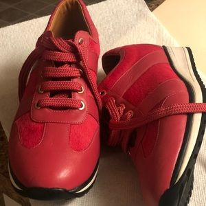 Longchamp berry pink sneakers
